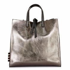 1c8ef5add98ae MANILA GRACE Borsa Medium Tote FELICIA BAG Antracite Metal