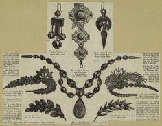 French and Whitby jet jewelry. From Harper's bazaar, Feb. 24, 1872. New York Public Library.