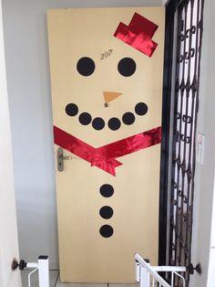 Boneco de neve de papel para porta