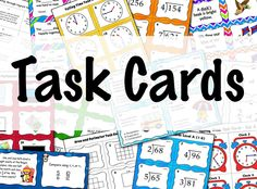 You'll find task cards galore for grades 2-6 galore on this Pinterest board! Repin this so you can find them when you need them!