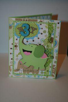Boy handmade birthday card.