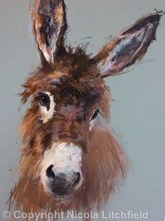 artwork paintings pastels   oil art of animals | Donkey Art by Nicola Litchfield♥♥