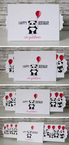 Schieberkarte, Panda, Mama Elephant,