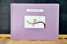 Personalized Baby Book for Single Parents OWL by LoveLeafBooks, $46.50 like us on facebook!  facebook.com/loveleafkids