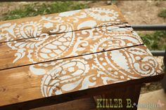 How to Stencil a Table Top with Cutting Edge Stencils