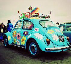 Un Beetle Hippie!!! #Beetle #Volkswagen #Hippie