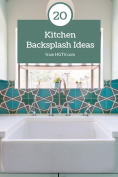 Explore your options in beautiful kitchen backsplashes in materials like ceramic tile, glass and marble.