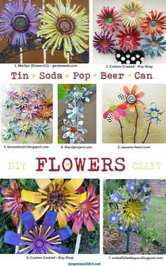 Pop can flowers