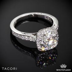 Tacori Dantela Crown Diamond Engagement Ring.