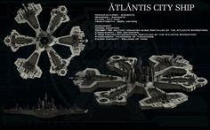 Atlantis city ship ortho by unusualsuspex on DeviantArt Stargate Atlantis, Stargate Ships, Science Fiction, Stargate Universe, Futuristic City, Futuristic Vehicles, Babylon 5, Warhammer 40k Art, Sci Fi Ships