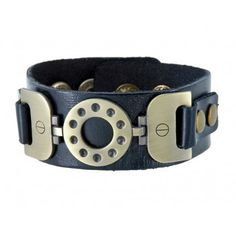 Cool Leather Archaize Metal Band Bracelet