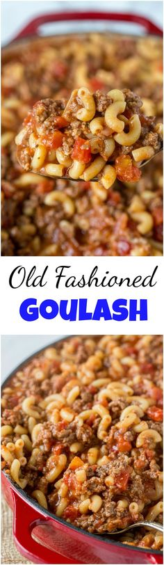 Old Fashioned Goulash – The same American goulash recipe that you grew up with. A hearty recipe that the entire family can enjoy any night of the week.
