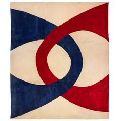 Lot 507: Edward Fields. carpet. 1971, hand-woven wool. 134 w x 157 l in. result: $2,500. estimate: $3,000–5,000. Stamped signature and date to underside: [Edward Fields 1971].