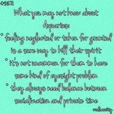 What you may not know abt Aquarians