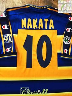 62573a14029ba 2002 03 Parma Home Serie A Football Shirt Nakata  10 (XL)