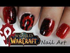 ▶ World Of Warcraft Nail Art - Horde - YouTube