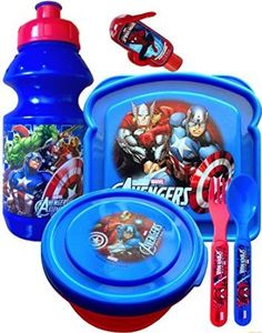 Cups, Dishes & Utensils Initiative 4 Piece Mealtime Dinnerware-plate,bowl,fork,spoon Marvel Spiderman Buy One Give One