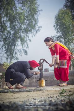 salwar kameez, red, yellow, black, green, nature, pre wedding sikh, punjabi juti, pranda, handpump, nalka, punjab, bangles, chudiyan, punjabi couple, photography