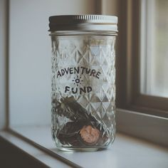 The Adventure Fund Jar by garrettgee.me: Never let this get too full. | but how big should it be?