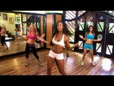 Just set up a playlist with a bunch of these videos from Tiffany Rothe Workouts on Youtube. =)