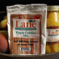 Georgia Peach Cobbler Mix - Shop online now! Bring the taste of homemade goodness home. Just Peachy, Frozen Fruit, Food Menu, Online Gifts, Cobbler, Pecan, Georgia, Homemade