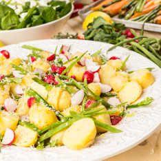 Potato salad with horse radish