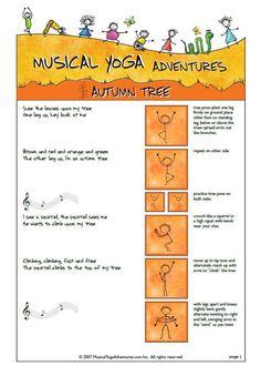 yoga autumn tree from Musical Yoga Adventures
