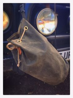 New Wynnchester waxed-canvas camp duffle bag