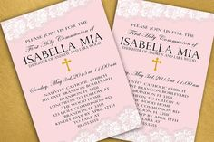 First Communion Invitation First Holy Communion by Hottomatoink2