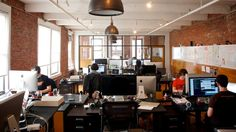 Awesome Offices: Inside 15 fantastic startup workplaces in New York - The Next Web - Harvest nyc  #interior