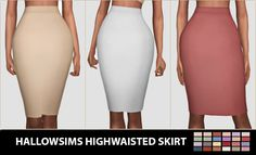 Highwaisted Skirt at Hallow Sims via Sims 4 Updates Check more at… The Sims 4 Pc, Sims Four, Sims 4 Mm Cc, Sims 4 Cas, The Sims 4 Jeans, Maxis, Pelo Sims, Sims 4 Dresses, Sims4 Clothes