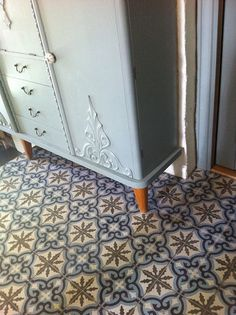 IMG_0304 by www.Far-far.no, via Flickr Beautiful Closets, Antique Tiles, Filing Cabinet, Cabinets, Flooring, Antiques, Storage, Interior, Furniture