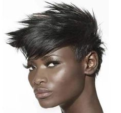 15 Alluring Straight Hairstyles: Short backs and sides with longer spiky fringe and zigzagged