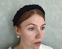 Velvet headband with beads hair accessories women fashion Thick Headbands, Rhinestone Headband, Hair Beads, Hair Accessories For Women, Headband Hairstyles, Velvet, Womens Fashion, Etsy, Beauty