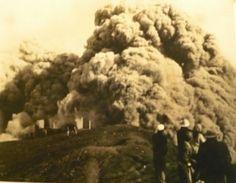 1963 valiente toma volcan Irazu Cartago CR.