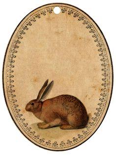 Free printable bunny tags & journal cards