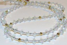 Clear Faceted Beaded Lanyard Eyeglass Chain Office ID by nonie615, $11.00