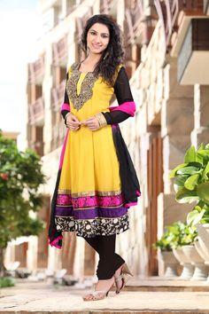 $108.19 Pink Stone Work Faux Georgette Anarkali Salwar Kameez 22617