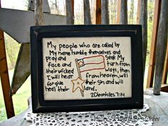 Patriotic Americana  Hand Stitched Stitchery by valleyprimitives, $12.95