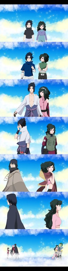Art by Aiki-Kazuma Sasuke Uchiha(c)Kishimoto Masashi In the picture I have tried to show the relationship between Sasuke and Aiki over the years and how it ended I think this is not a sad end , as ...