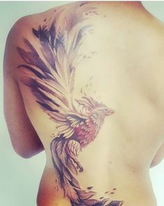 Fantastic phoenix tattoo by aaron clarke at monumental ink - tattoo idea . - Fantastic phoenix tattoo by aaron clarke at monumental ink – tattoo ideas – - Phoenix Bird Tattoos, Phoenix Tattoo Design, Feather Tattoos, Body Art Tattoos, Phoenix Tattoo Sleeve, Phoenix Back Tattoo, Tattoo Ink, Bird Tattoo Sleeves, Bird Tattoo Back