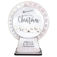 Personalised Make Your Own Advent Countdown Kit - Christmas Clock Christmas Clock, Christmas Text, Days To Christmas, Christmas Countdown, Make Your Own, Make It Yourself, How To Make, Fix Upper, Do It Yourself Decoration