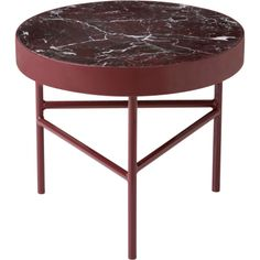 "$439.00 Marble Table - Small 15.75"" Diameter x 13.8"" H"