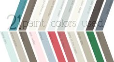 Young House Love - Paint colors used in one year