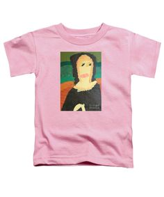 Purchase a Patrick Francis Pink Designer toddler t-shirt featuring the image of Mona Lisa 2014 - After Leonardo Da Vinci by Patrick Francis.  Available in sizes 2T - 4T.  Each toddler t-shirt is printed on-demand, ships within 1 - 2 business days, and comes with a 30-day money-back guarantee.