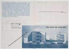 Herbert Bayer. Alle Kreise der Kulturwelt (All circles of the world of culture). Advertising brochure for bauhaus magazine. 1928