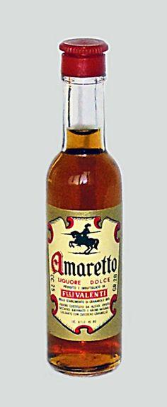 Valenti Eridanea - Mini Liquor Bottles - Amaretto - https://sites.google.com/site/valentieridanea/