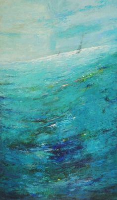 Turquoise Abstract Oil Painting