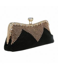 c8f4af1963 Women Handbags Rhinestone Evening Bags Crystal Party Clutches Bag - Black -  C212GBIDX9B