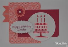 Personalised Corporate Birthday Cards handmade by Sue Wdowik - Independent Stampin' Up! Demonstrator. www.nighnighbirdie.blogspot.com